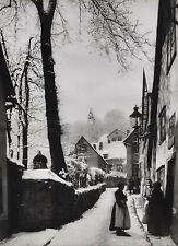 Foto Lohöfener Bielefeld - alte winterliche Straßenszene wohl in Bielefeld