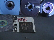 Michael Jackson LOT OF 6 45 RPM BAD -ILL BE THERE-DONT STOP-BILLI JEAN-BEAT IT