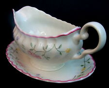 Johnson Brothers Summer Chintz Pattern Gravy Sauce Boat & Stand Looks in VGC
