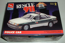 Vintage AMT Rescue 911 Ford TAURUS Police Car w/ Light Bar New and Sealed 1993