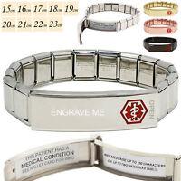Life Sauveur Medical Alert Sos Id Acier Bracelet 200 Lettres sur Imperméable