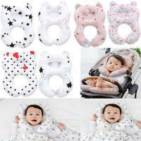US Infant Baby Sleep Pillow Car Seat Pillow Travel Soft Breathable Head Support