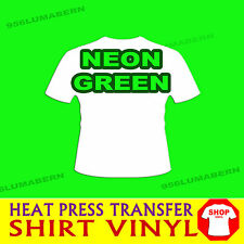 "1 roll 15""  NEON GREEN Heat transfer Thernal Press T-shirt vinyl film  5 feet"