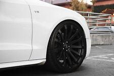 """19"""" MRR HR9 Wheels For Mercedes W212 E350 E550 Concave Black Rims Set (4)"""
