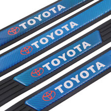 X4 Black Rubber Car Door Scuff Sill Cover Panel Step Protector For Toyota