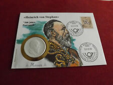 *Numisbrief 1989 mit Meissen Porzellan Medaille * Heinrich v. Stephan(ALB16).