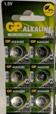 6 New GP LR44 AG13 A76 V13GA 1.5V Alkaline Batteries Exp 2018- USA Seller