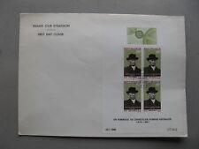 SENEGAL, large cover FDC 1968, S/S Konrad Adenauer