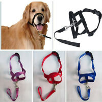 Pet Dog Puppy Muzzle Anti Stop Bite Bark Chewing Masks All Training Medium Large