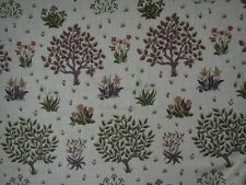 "WILLIAM MORRIS CURTAIN FABRIC ""Orchard"" 2 METRES MULBERRY/OLIVE LINEN BLEND"
