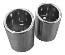 2x Premium Acero Inox. Tubos de Escape Original Calidad 60-64mm Muchas Vehículos