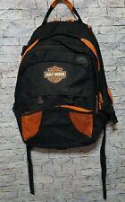 Harley-Davidson Black Orange 100% Polyester School Motorcycle Riding Backpack