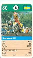 HUSQVARNA 500  SUEDE SWEDEN  SPORT MOTO 70s 80s PLAYING CARD CARTE À JOUER