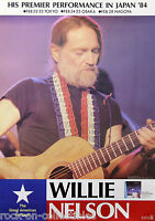 Willie Nelson 1984 Japan Concert Poster Without A Song 1st Ever Japan Tour