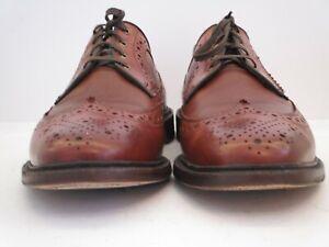 Men's Allen Edmonds Regent Street Reddish Brown Long Wingtips Size 10.5  D