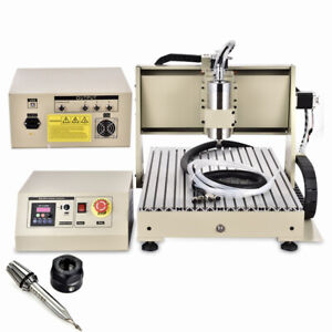 3 AXIS CNC 6040Z Router Engraver Drill Milling Machine USB 1500W VFD+Controller