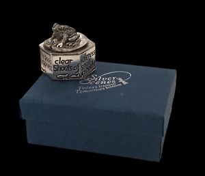 Silver Scenes Silver Plated Frog Box Pot Trinket Gift Pill SS92 Boxed