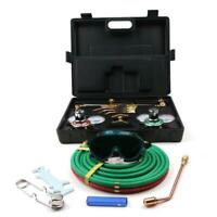 NEW Gas Welding Cutting Welder Kit Oxy Acetylene Oxygen Torch with Hose + Case