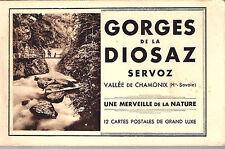 Carnet CPA 12 cartes Gorges de Diosaz Servoz Chamonix Haute-Savoie Rhône-Alpes