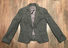 J. Crew Women's Gray Herringbone Tweed 100% Wool Lined Blazer • Size 0