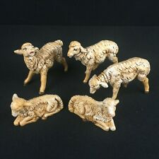 Vtg 1983 Roman Fontanini 5 Pc. Set The Sheep # 52539 Nativity Figurines Italy