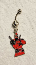 Deadpool dead pool Belly Ring Navel Ring 14G Surgical Steel