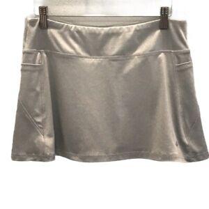 Etonic Womens Golf Skort Gray Heathered Stretch Side Pockets Pull On S