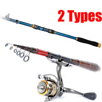 2.1M Carbon Fiber Fish Rod Spinning Lure Rod Fishing Pole Ultralight Hand Tackle