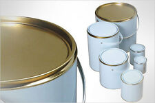 6 X EMPTY PAINT TINS LACQUERED CAN - SUITABLE FOR WATERBASED PAINTS - 250ml