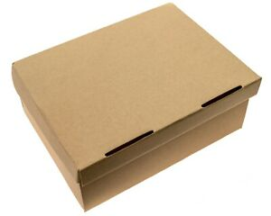 """Gift Boxes - 10 PACK - 12.5"""" x 9"""" x 5"""", HEAVY DUTY One-Piece Design With Lid"""