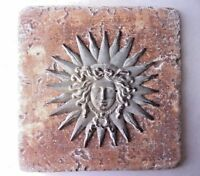 "Lady liberty  travertine tile mold 6"" x 6"" x 1/3"" plaster cement mould"