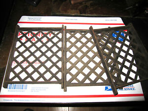 "ANTIQUE LOT OF 3 CAST IRON UNKNOWN USE GRATES 8"" X 6"" GOOD ANTIQUE CONDITION"