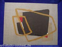 Michael Feicht (geb. 1959) Flächige Komposition in braun mit geometrischer Figur