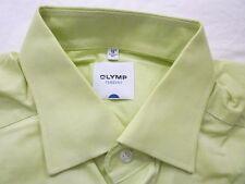 E7936 Olymp Tendenz Businesshemd Kombimanschette 41 hellgrün meöiert Unifarben