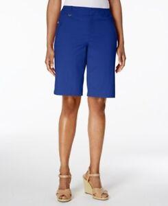 Charter Club Women's Twill D Ring Hardware-Trim Shorts Modern Blue Size 10 $49