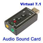 External USB Audio Sound Card Adapter Virtual 7.1 USB 2.0 Mic Speaker Converter