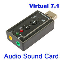 Mini USB 2.0 3D Virtual 12Mbps External 7.1 Channel Audio Sound Card Adapter USA