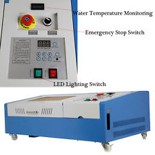 40W USB CO2 Laser Engraving Cutting Machine Engraver Cutter with 4 Wheels