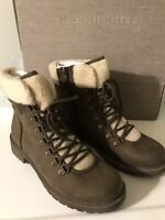 Maurices Wynter Sherpa Hiker Boots Olive Green Womens Size 8.5 New In Box