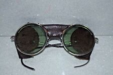 Vintage Antique MSA MSAM  Goggles Motorcycle Aviator Steampunk Leather Glasses