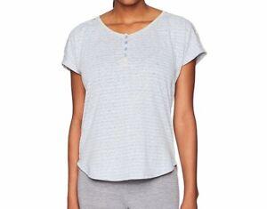 "Karen Neuburger Womens Pajama Top Henley Striped Sleep Shirt Medium 35 ½""-36 ½"""