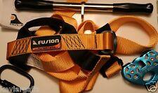 Zipline Trolley Handle Bars and Carabineer Zip Line with Harness