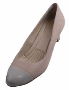 Easy Spirit Raphael Women's Taupe Leather Slip On High Heel Shoes size 8