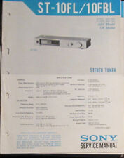 Sony ST-10FL tuner service repair workshop manual (original copy)
