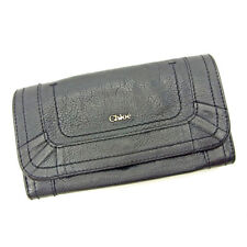 Chloe Wallet Purse Long Wallet Black Woman Authentic Used S646