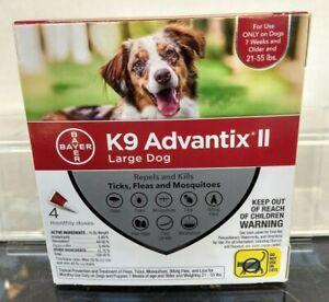 K9 Adavantix ll (Bayer)Lg Dog 4 monthly doses/ 7 weeks or older & over 21-55 lbs