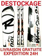"""ski occasion adulte ROSSIGNOL """"9 GS Ti """" tailles:155cm et 165cm +fixations"""