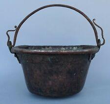 Antiker Kupfer Kessel Gefäß - Handarbeit - um 1750