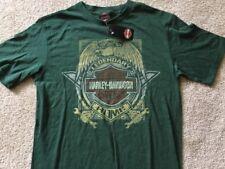 Harley Davidson Legendary dark green Shirt Nwt Men's XL