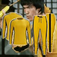 Adult Bruce Lee Game of Death Jumpsuit Kung Fu Cosplay Costume Sportswear
